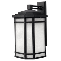 Cherry Creek 1 Light 21 inch Vintage Black Outdoor Wall in White Linen, GU24