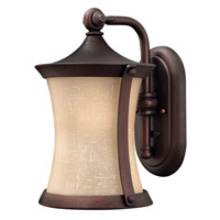 Hinkley Lighting Thistledown 1 Light Outdoor Wall Lantern in Victorian Bronze with Amber Linen Glass 1280VZ-LED