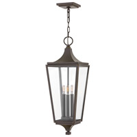 Jaymes 3 Light 9 inch Oil Rubbed Bronze Outdoor Hanging