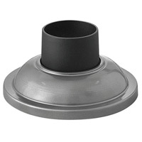 "Hinkley 1304HE Signature 4 inch Hematite Outdoor Pier Mount fits standard 3"" diameter Post Cup"
