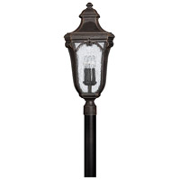 Trafalgar 3 Light 28 inch Mocha Outdoor Post Mount in Incandescent, Post Sold Separately
