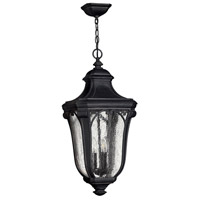 Hinkley 1312MB Trafalgar 3 Light 12 inch Museum Black Outdoor Hanging Lantern in Incandescent