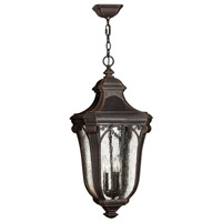 Hinkley 1312MO Trafalgar 3 Light 12 inch Mocha Outdoor Hanging Light in Incandescent