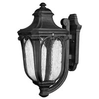 Hinkley Lighting Trafalgar 1 Light Outdoor Wall Lantern in Museum Black 1315MB-ES