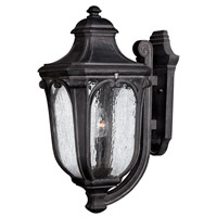 Hinkley 1315MB-GU24 Trafalgar 1 Light 22 inch Museum Black Outdoor Wall in GU24, Clear Seedy Glass