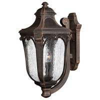 Trafalgar 3 Light 22 inch Mocha Outdoor Wall Lantern in Incandescent