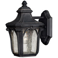 Hinkley 1316MB-LED Trafalgar 1 Light 10 inch Museum Black Outdoor Wall in LED, Clear Seedy Glass