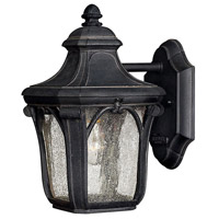 Trafalgar 1 Light 10 inch Museum Black Outdoor Mini Wall Mount in Incandescent