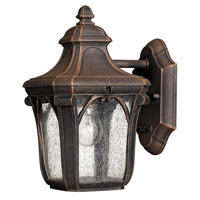 Hinkley 1316MO-GU24 Trafalgar 1 Light 10 inch Mocha Outdoor Wall in GU24, Clear Seedy Glass