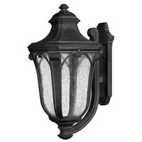 Hinkley Lighting Trafalgar 1 Light Outdoor Wall Lantern in Museum Black 1319MB-EST