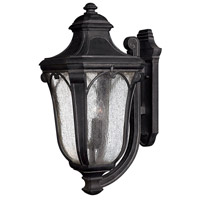 Trafalgar 3 Light 27 inch Museum Black Outdoor Wall Lantern in Incandescent