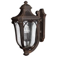 Trafalgar 3 Light 27 inch Mocha Outdoor Wall Lantern in Incandescent