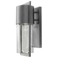 Hinkley Lighting Shelter 1 Light Outdoor Wall Lantern in Hematite 1320HE-LED