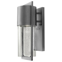 Shelter 1 Light 16 inch Hematite Outdoor Wall Mount in Incandescent