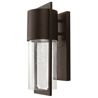 Hinkley 1320KZ Shelter 1 Light 16 inch Buckeye Bronze Outdoor Wall Mount in Incandescent