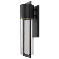 Hinkley Lighting Shelter 1 Light Outdoor Wall Lantern in Black 1324BK-LED