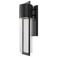 Hinkley Lighting Shelter 1 Light Outdoor Wall Lantern in Black 1324BK