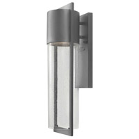 Hinkley Lighting Dwell 1 Light Outdoor Wall Lantern in Hematite 1324HE-LED