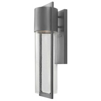 Hinkley Lighting Shelter 1 Light Outdoor Wall Lantern in Hematite 1324HE