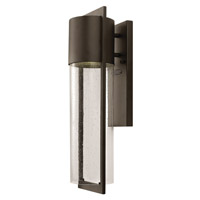 Shelter 1 Light 21 inch Buckeye Bronze Outdoor Wall in GU24, Clear Seedy Glass