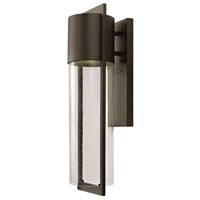 Hinkley 1324KZ Shelter 1 Light 21 inch Buckeye Bronze Outdoor Wall Mount in Incandescent, Medium