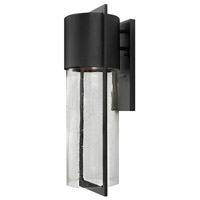 Hinkley Lighting Shelter 1 Light Outdoor Wall Lantern in Black 1325BK-LED