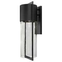 Hinkley Lighting Shelter 1 Light Outdoor Wall Lantern in Black 1325BK