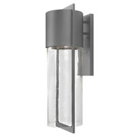 Hinkley 1325HE-GU24 Shelter 1 Light 23 inch Hematite Outdoor Wall in GU24, Clear Seedy Glass