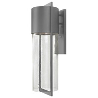 Hinkley Lighting Dwell 1 Light Outdoor Wall Lantern in Hematite 1325HE-LED