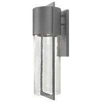 Hinkley 1325HE Shelter 1 Light 23 inch Hematite Outdoor Wall Mount in Incandescent