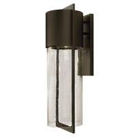 Hinkley 1325KZ-GU24 Shelter 1 Light 23 inch Buckeye Bronze Outdoor Wall in GU24, Clear Seedy Glass photo thumbnail