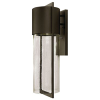 Hinkley Lighting Shelter 1 Light Outdoor Wall Lantern in Buckeye Bronze 1325KZ-LED