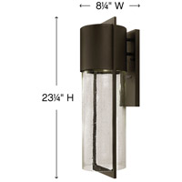 Hinkley 1325KZ Shelter 1 Light 23 inch Buckeye Bronze Outdoor Wall Mount in Incandescent alternative photo thumbnail