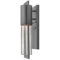 Hinkley Hematite Aluminum Outdoor Wall Lights