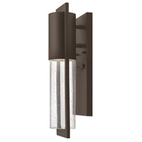 Hinkley 1326KZ Shelter 1 Light 16 inch Buckeye Bronze Outdoor Mini Wall Mount in Incandescent