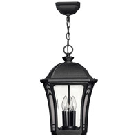 Hinkley Lighting Wabash 1 Light Outdoor Hanging Lantern in Museum Black 1332MB-LED