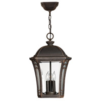 Hinkley 1332MO Wabash 3 Light 11 inch Mocha Outdoor Hanging Lantern in Incandescent