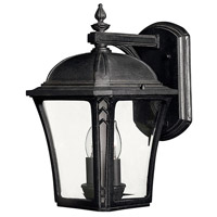 Hinkley Lighting Wabash 1 Light Outdoor Wall Lantern in Museum Black 1334MB-LED