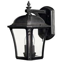 Hinkley 1334MB Wabash 2 Light 14 inch Museum Black Outdoor Wall Mount in Incandescent