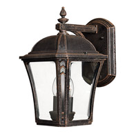 Wabash 2 Light 14 inch Mocha Outdoor Wall Lantern in Incandescent