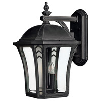 Hinkley Lighting Wabash 3 Light Outdoor Wall Lantern in Museum Black 1335MB