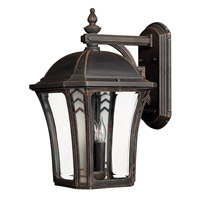 Wabash 3 Light 19 inch Mocha Outdoor Wall Lantern in Incandescent
