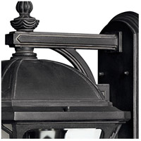 Hinkley 1335MB Wabash 3 Light 19 inch Museum Black Outdoor Wall Mount in Incandescent alternative photo thumbnail