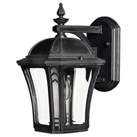 Hinkley 1336MB-LED Wabash 1 Light 11 inch Museum Black Outdoor Wall in LED, Clear and Etched Glasses