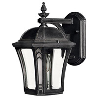 Hinkley 1336MB Wabash 1 Light 11 inch Museum Black Outdoor Mini Wall Mount in Incandescent