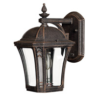Hinkley 1336MO Wabash 1 Light 11 inch Mocha Outdoor Wall Lantern in Incandescent