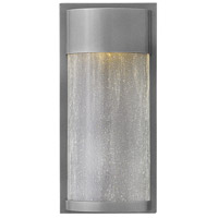 Hinkley 1340HE Shelter 1 Light 12 inch Hematite Outdoor Wall Mount, Clear Seedy Glass