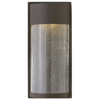 Hinkley 1340KZ Shelter LED 13 inch Buckeye Bronze Outdoor Wall Mount, Clear Seedy Glass