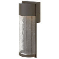 Hinkley 1340KZ Shelter LED 13 inch Buckeye Bronze Outdoor Wall Mount, Clear Seedy Glass alternative photo thumbnail