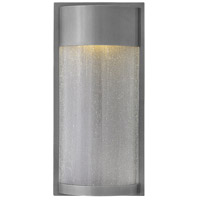Hinkley 1344HE Shelter 1 Light 18 inch Hematite Outdoor Wall Mount, Clear Seedy Glass